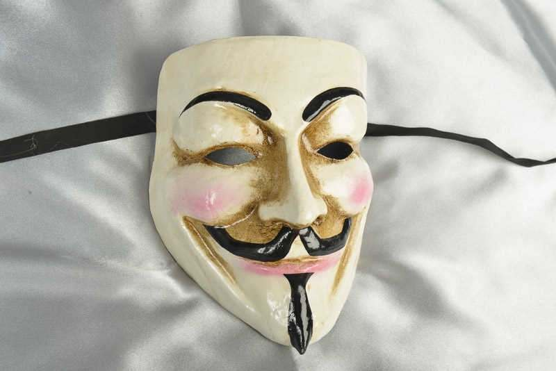 Halloween mask anonymous guy fawkes vendetta